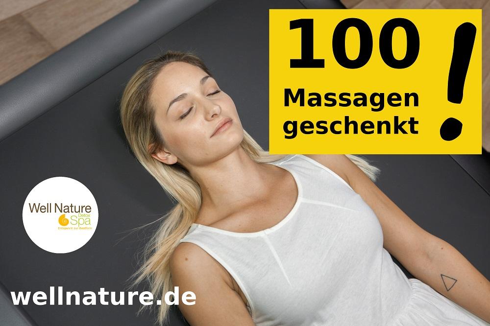 100 Massagen geschenkt!