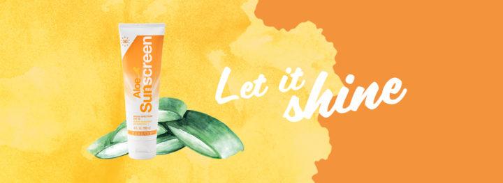 Sonnenschutz mit natürlicher Aloe Vera Pflege in einer Creme